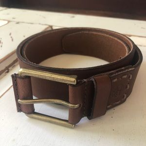 Timberland Leather Casual Distressed Belt